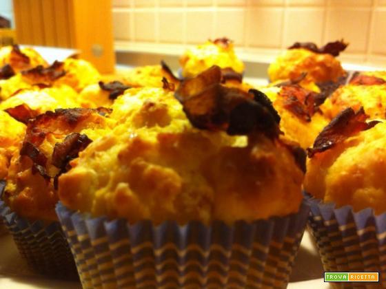 Mini Cupcakes al parmigiano e pancetta