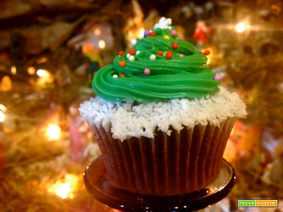 Christmas tree Cupcakes al cioccolato
