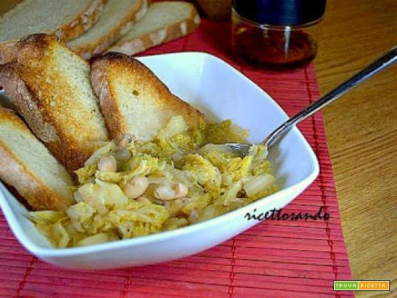Zuppa di verze e fagioli