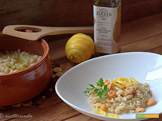Risotto ai gamberetti e olio Zucchi