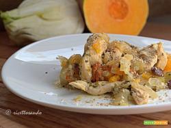 Tajine di pollo con zucca e finocchio