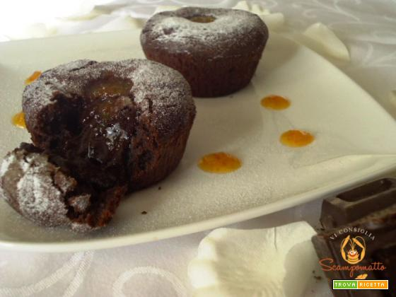 Tortini con cuore di cioccolato