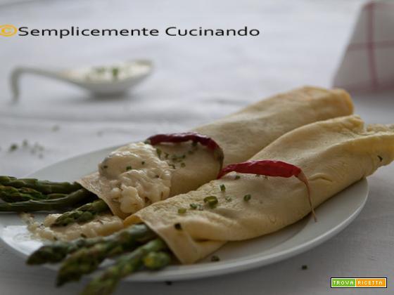Asparagi in salsa cremosa al formaggio