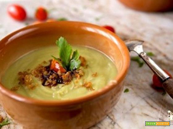 Crema di broccolo, alici e aceto balsamico