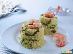 Cuscus gamberi zucchine e zenzero
