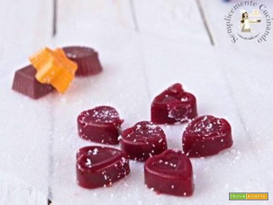 Gelatine rosso lampone di rape rosse