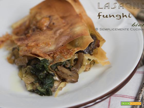 Lasagne con funghi porcini e bietoline