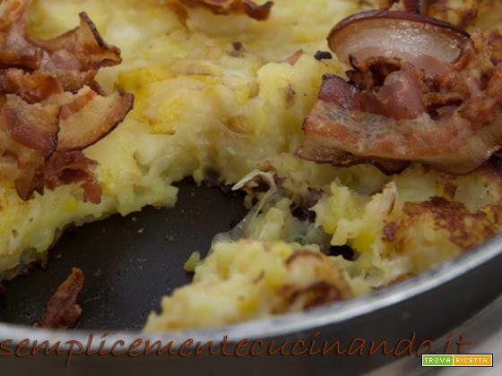 Patate, porro e bacon