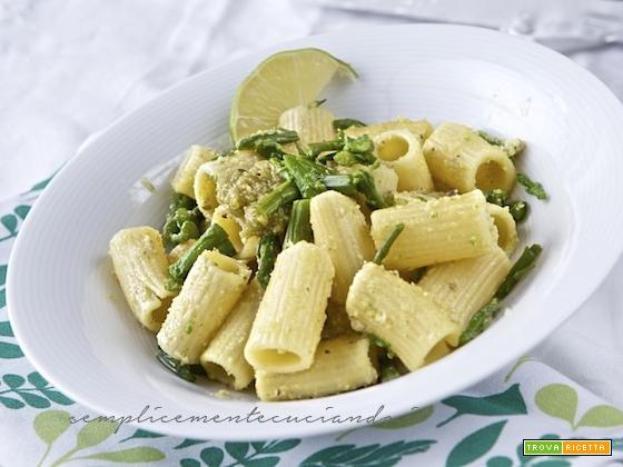 Rigatoni asparagi selvatici pesto profumato