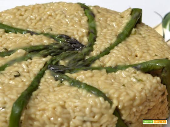 Timballo di riso e asparagi