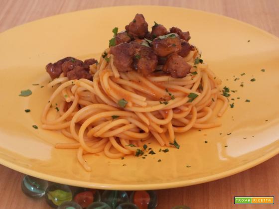 s.valentino shock menù: il quinto quarto –  spaghetti con frattaglie e crema di pecorino