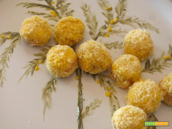 mini mimosa, un dolce che non vuol dire altro