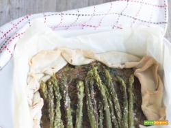 Torta Salata Asparagi gratinati, Cicorino e Patate |Vegan
