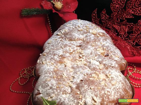 Brioche vegana Albero di Natale con frutta disidratata