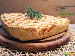 Cheesecake salata ai porri con pasta brisèe al timo