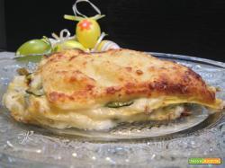 Lasagne cremose con carciofi e zucchine