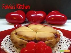 Mini Crostata per San Valentino con confettura di fragole