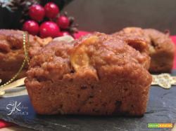 Mini plumcake integrali light con pere e mele
