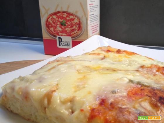 Pizza ai 4 formaggi a lievitazione mista