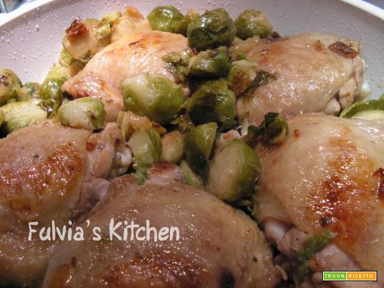Pollo coi cavolini di Bruxelles