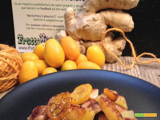 Pollo con patate, kumquat e zenzero