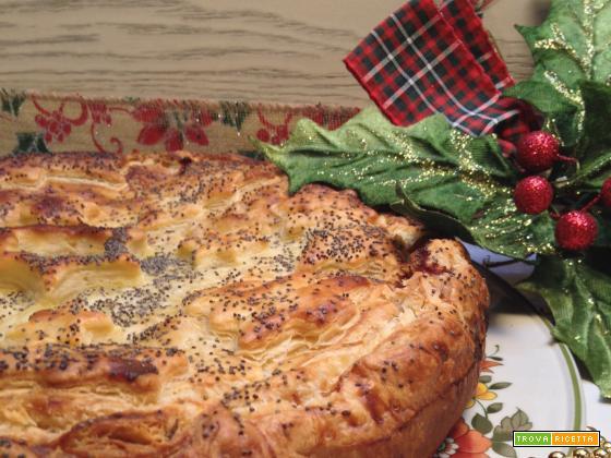 Quiche vegetariana di Natale con zucchine e melanzane