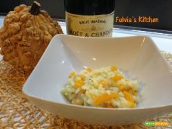 Risotto allo champagne con zucca