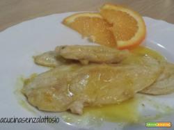 Petto di pollo arancia e mandorle senza lattosio