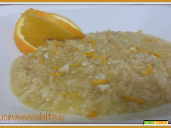 Risotto arancia e mandorle senza lattosio – ricetta Bimby