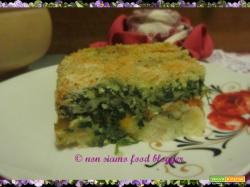 Il gateau o gattò di patate con spinaci, zucca e salsiccia