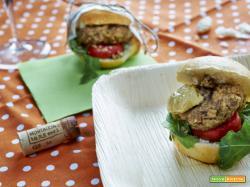burger di seitan e noci - La taverna degli Arna