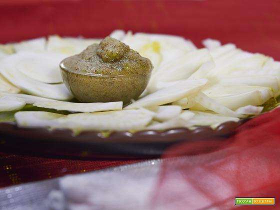 carpaccio di finocchi con salsa alla menta