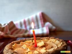 crostata di mele e budino alla vaniglia