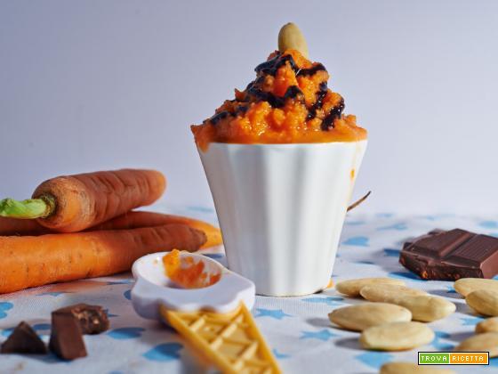 gelato alle carote e mandorle
