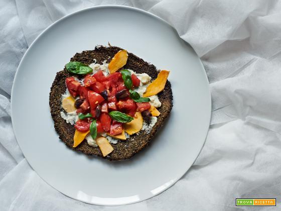 pizza di quinoa e canapa