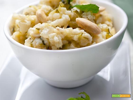 risotto alle zucchine e menta