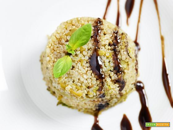 tortino di quinoa e asparagi