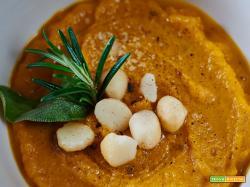 Vellutata di carote e porri alle spezie invernali