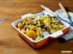 zucca patate e funghi