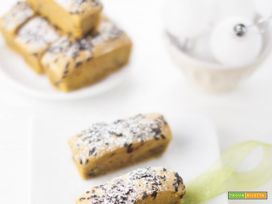 Mini-Cake Speziati con Zucca e Cioccolato.