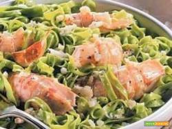 Tagliolini agli spinaci e cicale