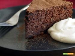 Torta di castagne al cioccolato