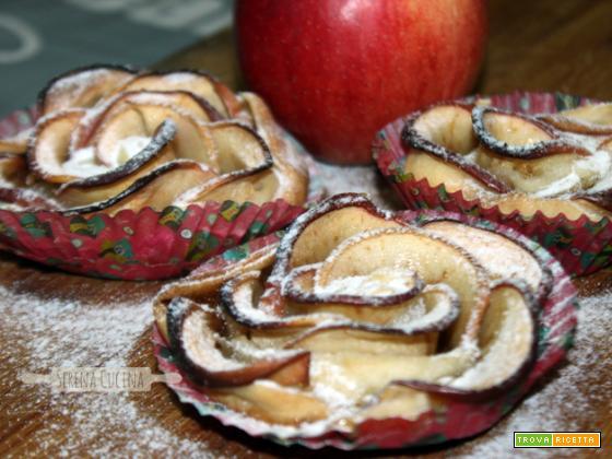 SerenaCucina - Rose di sfoglia con mela e cannella e pera e cioccolato