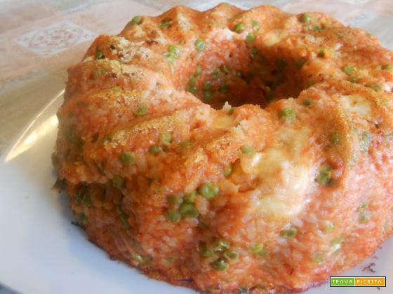 Timballo di riso al forno: un primo piatto gustoso e bello da vedere