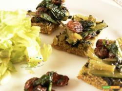 Torta salata GLUTEN FREE e VEGANA  con Cicoria e Uvetta!