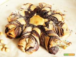 Fiore di Pan Brioche Vegano farcito con Nutella fatta in casa  Vegana