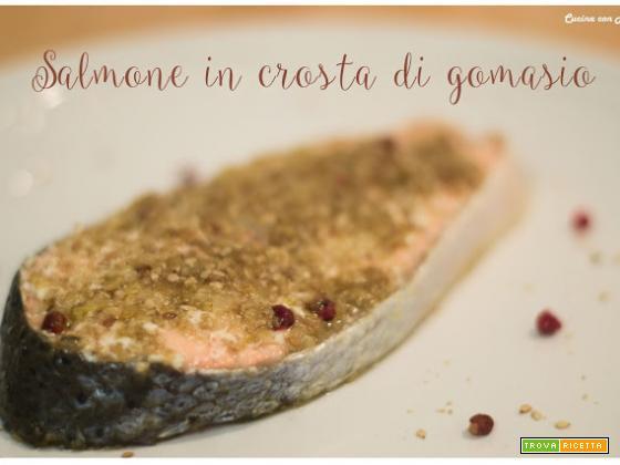 SALMONE IN CROSTA DI GOMASIO