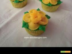 Cupcake con narcisi