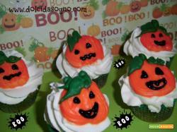 Cupcake con banana e cioccolato per halloween!