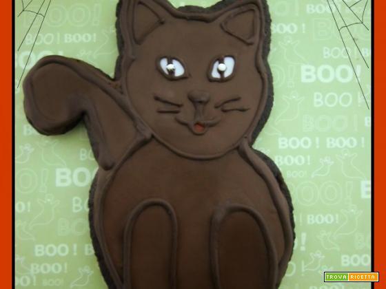 Maxi biscotto al cioccolato per halloween